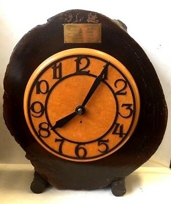 Super rare electric clock with antique English London wood water pipe case LARGE