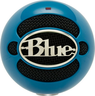 NEW! Blue Microphones 836213003015 Snowball USB Microphone - Neon Blue