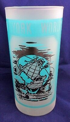 Vintage Frosted New York World's Fair Glass Tumbler 1964 - 1965