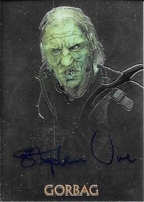 2004 Topps Chrome Lord Of The Rings Trilogy Stephen Ure as Gorbag Autograph Card