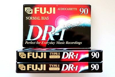 3 X Fuji Dr-I 90 Normal Position Type I Blank Audio Cassette Tapes