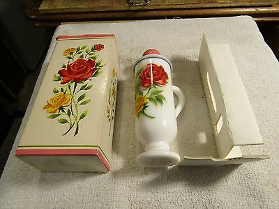 Vintage Avon Demi Cup To A Wild Rose Foaming Bath Oil 3 oz Bottle New Box