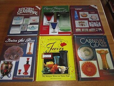 Lot 6 Price Guide Books Shawnee Pottery Carnival Depression Fiesta Fenton Glass