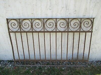 Antique Victorian Iron Gate Window Garden Fence Architectural Salvage Door #014