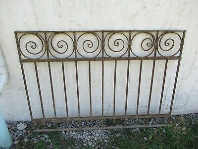 Antique Victorian Iron Gate Window Garden Fence Architectural Salvage Door #05