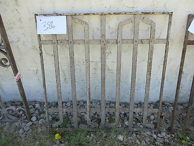 Antique Victorian Iron Gate Window Garden Fence Architectural Salvage Door #386