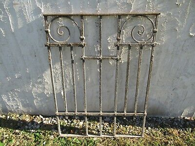 Antique Victorian Iron Gate Window Garden Fence Architectural Salvage Door #021