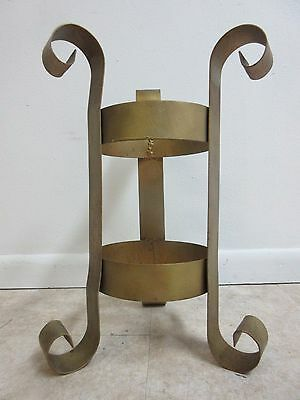Vintage French Regency Wrought Iron Lamp End Table Base Umbrella Stand