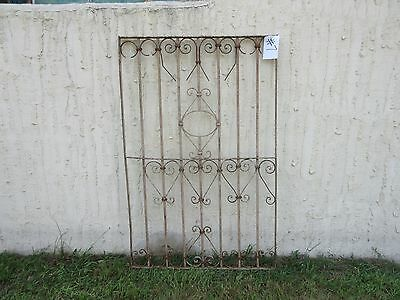Antique Victorian Iron Gate Window Garden Fence Architectural Salvage Door #7