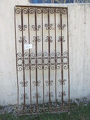 Antique Victorian Iron Gate Window Garden Fence Architectural Salvage Door #620