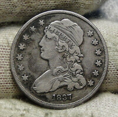 1837 Capped Bust Quarter 25 Cents -  Rare Key Date only 252,400 minted. (5875)
