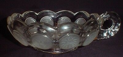 Vintage Fostoria Clear Coin Glass Handled Candy Dish Bowl