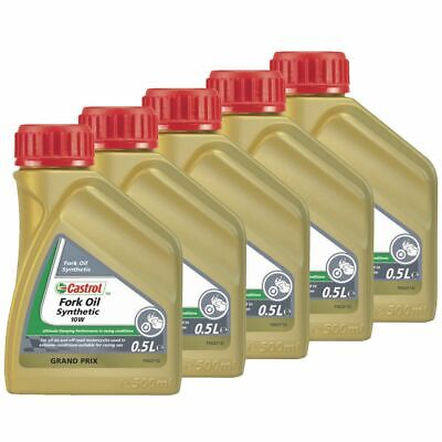 Castrol Synthetic Bike / Motorcycle Suspension / Fork Oil / Fluid 5W - 2.5L