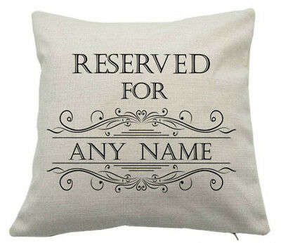 Reserved For Any Name Cushion Pillow Fathers Day Birthday Christmas Cute Gift