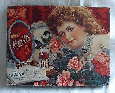 Coca Cola Sentimental Sweetheart Vtg Girl & Roses Springbok Jigsaw Puzzle 500 Pc