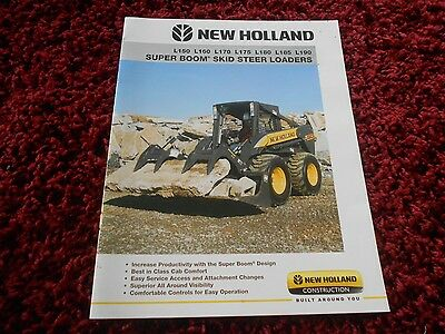 2008 Sperry New Holland Skid-Steer BROCHURE Super Boom L150 160 170 180 185 190