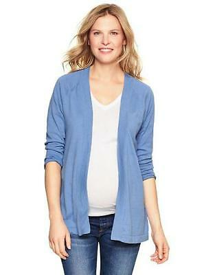 NWTBeautiful  GAP Womens L Blue Maternity Sweater Open Cardigan