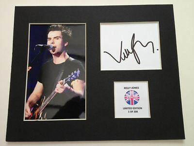 Limited Edition Kelly Jones Stereophonics Signed Mount Display AUTOGRAPH