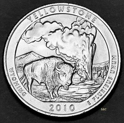 2010 D MINT -   Yellowstone National Park Quarter  (WY) Uncirculated Clad.
