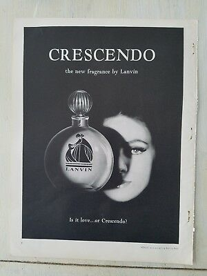 1961 Lanvin Crescendo perfume bottle is it love fragrance ad