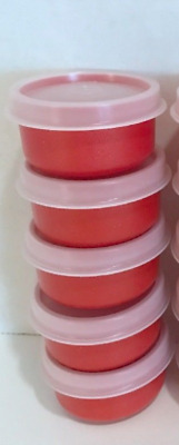 Tupperware Harvest Orange Smidgets Set of 5 Textured Spices Sides Dressings New