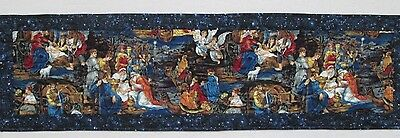 Handcrafted Religious Nativity Scene Christmas Quilted Table Runner Topper