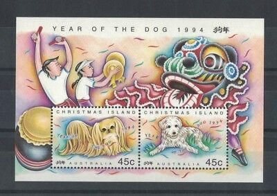 1994 Christmas Island Year of the Dog SG MS 388 muh