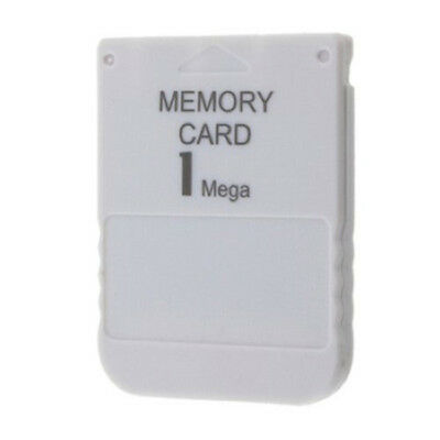 1MB 1 MB Memory Card For Sony Playstation One 1 PS1 PS2 PSX Game Mem Card White