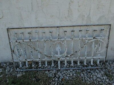 Antique Victorian Iron Gate Window Garden Fence Architectural Salvage Door #066