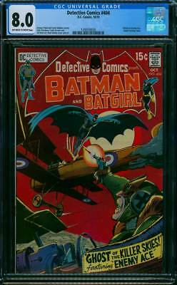 Detective Comics # 404  Ghost of the Killer Skies !  CGC 8.0 scarce book !