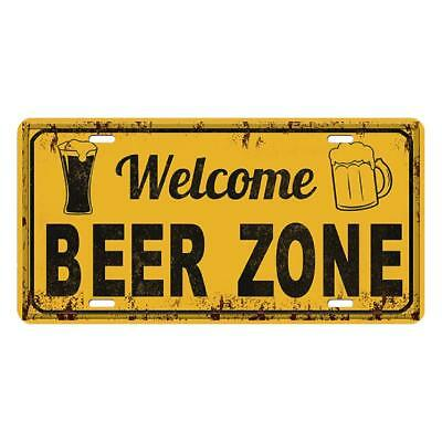 RUSTIC METAL BEER Sign Wall Decor Industrial Bar Recycled Unique ...
