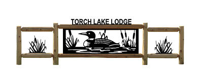 Personalized Loon Signs - Lighthouses - Clingermans Outdoor Log Signs