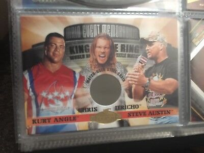 WWF WWE Fleer 2001 Angle V Austin V Jericho King Of The Ring Chair Relic Card