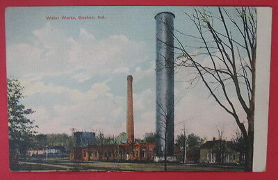 Antique Vtg Water Works Postcard-Goshen Indiana
