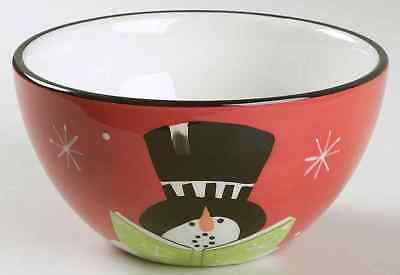 Certified International HOLIDAY SNOWMAN Caroling Ice Cream Dish 6316145