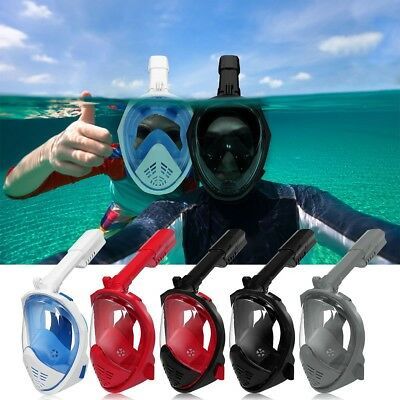 Full Dry Face Diving Mask Swim Foldable Breather Pipe Snorkel Scuba For GoPro