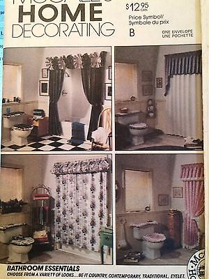 6609 McCalls Home Decor Bathroom Essentials Sewing Pattern Complete