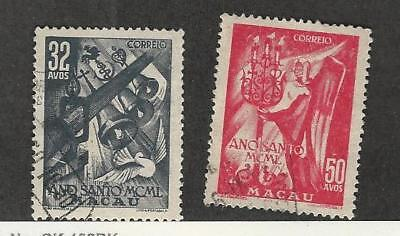 Macao, Postage Stamp, #339-340 Used, 1950 Portugal Colony