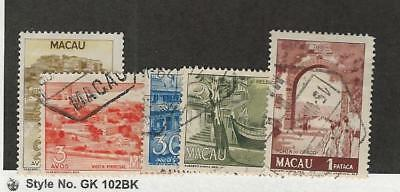 Macao, Postage Stamp, #342-343, 346-347a Used, 1950 Portugal Colony