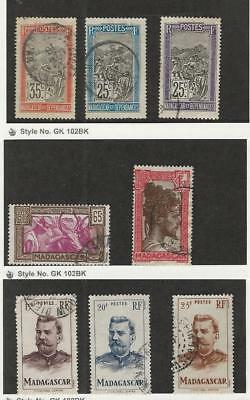 Malagasy, Postage Stamp, #91-92, 97, 158, 165, 283-5 Used, 1903-46