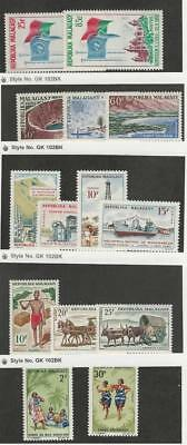 Malagasy, Postage Stamp, #326-7, 329-1, 334-7, 373, 375-6, 405-6 Mint LH, 1962