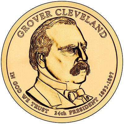 2012-P BU Grover Cleveland 2nd Presidential Dollar