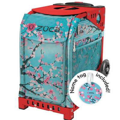 "ZUCA ""New"" Sport Insert Bag ""Hanami""with Sport Frame: Red"