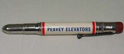 Bullet Pencil Holder Peavey Grain Elevators Cap Vtg 1950s Carpenter Duluth MN