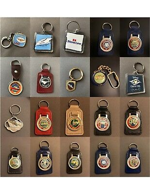 Keyring Keychain Transport Key Ring Canal Boats Ships Trains Cars
