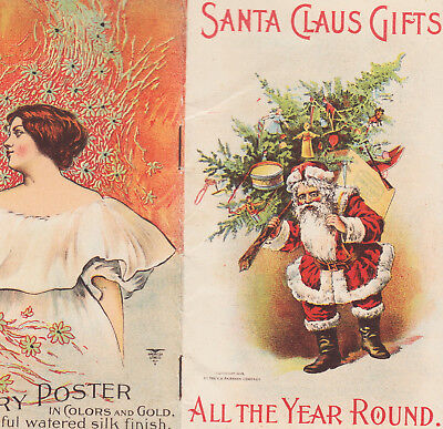 Santa Claus Soap 1899 © Gifts Offer Christmas Tree Victorian Advertising Booklet