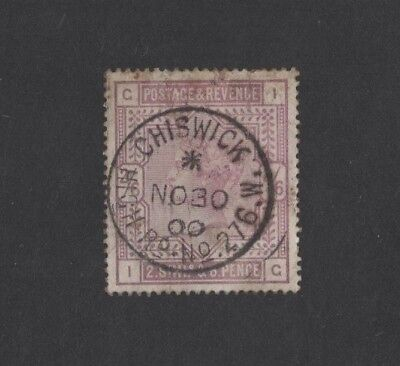 1883 Great Britain 2/6 lilac Victoria SG 178 fu cat. 160 pound fine used toning