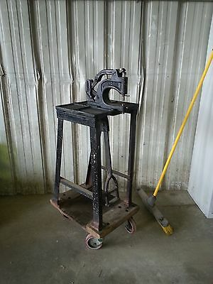 Vintage United Carr Industrial Rivet Grommet Eyelet Press Attaching Tool w Stand