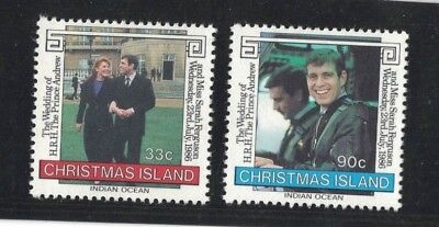 1986 Christmas Island Royal Wedding SG 220/21 muh set 2