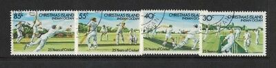 1984 Christmas Island Cricket SG 190/3 fine used set 4